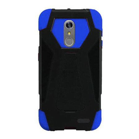 Phone Case For Zte Blade Spark 4G At T Prepaid Smartphone  Zte Grand X4  Cricket Wireless  Case  Hybrid Cover Case With Kickstand  Blue