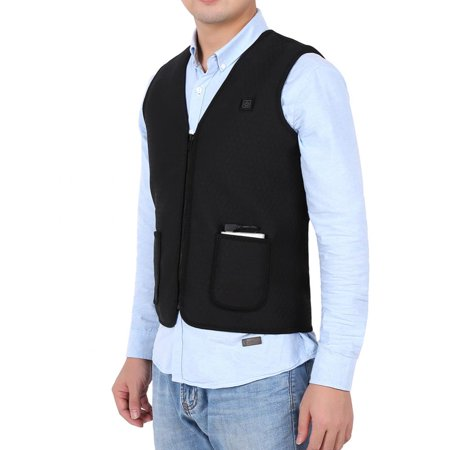 WALFRONT Men/Women Warmer Safe Built-in Electric Plate Heating Heated Vest - image 5 of 6