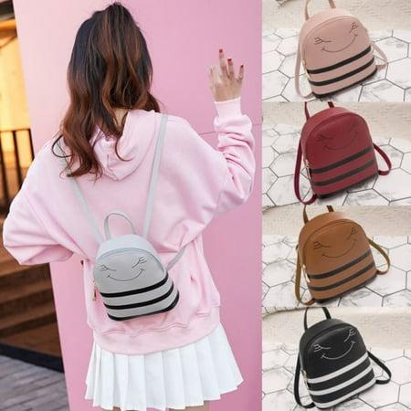 Women Girl Small Backpack Travel Shoulder Bag PU Leather Handbag Rucksack School Bag