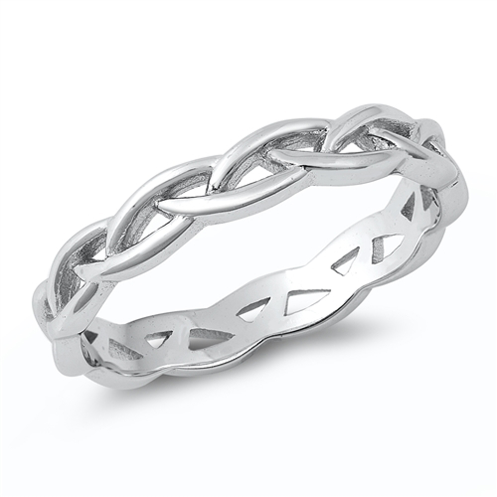 Braided wire ring