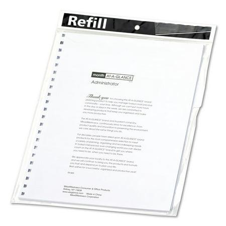 Monthly Planner Refill, 9 X 11, White, (Planner Box Refill)