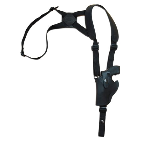 Barsony Left Hand Draw Vertical Black Leather Shoulder Gun Holster Size 1 S&W Taurus Colt Charter Arms .22 .38 .357