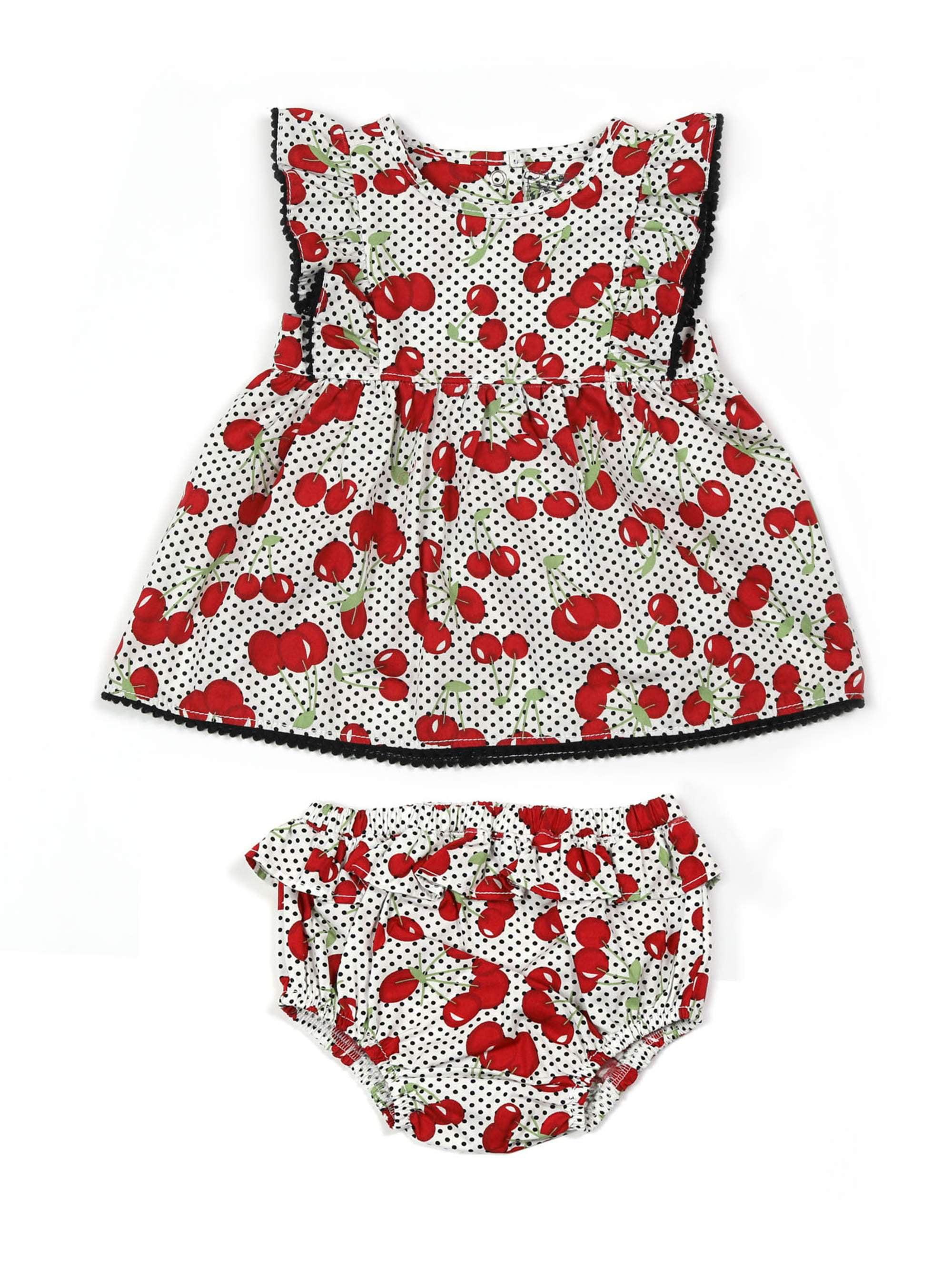 Cherry Dress/Panty (Baby Girls)