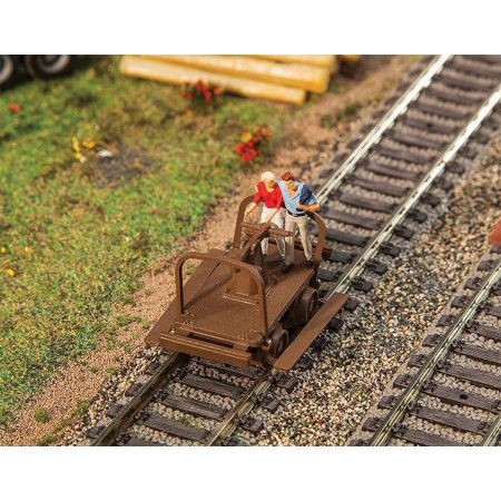 - Walthers HO Scale Model Railroad Scenery Kit Handcars Kit (2-Pack)