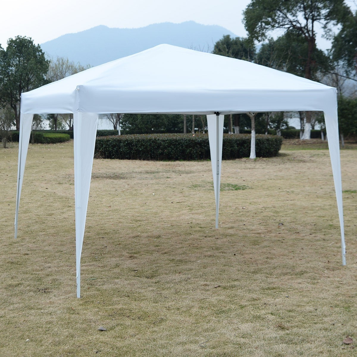 GOPLUS 10X10 EZ POP UP Canopy Tent Gazebo Wedding Party Shelter Carry Bag White by Apontus
