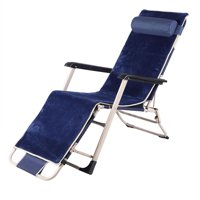 YLSHRF Extended Single Square Tube Folding Lounge Chair Portable Chair for Leisure, Outdoor Chaise Lounge,Lounge Chair