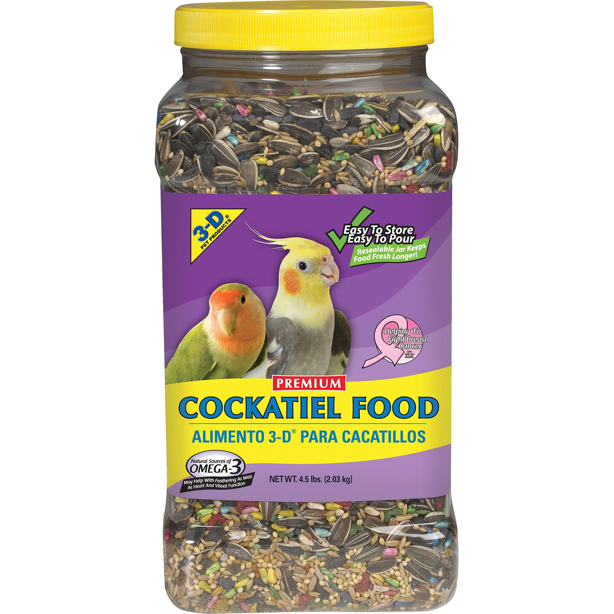 3-D Pet Products Premium Cockatiel Food, 4.5 lb by Generic