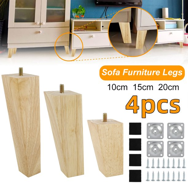Hotbest Height Sofa Legs Wooden, How To Install Furniture Feet