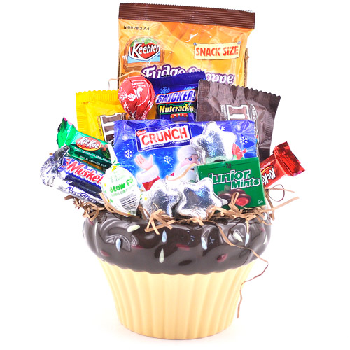 Sweets in Bloom Cupcake Candy Gift Basket