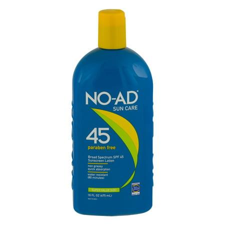 No Ad Sunscreen Lotion Spf 45  16 0 Fl Oz