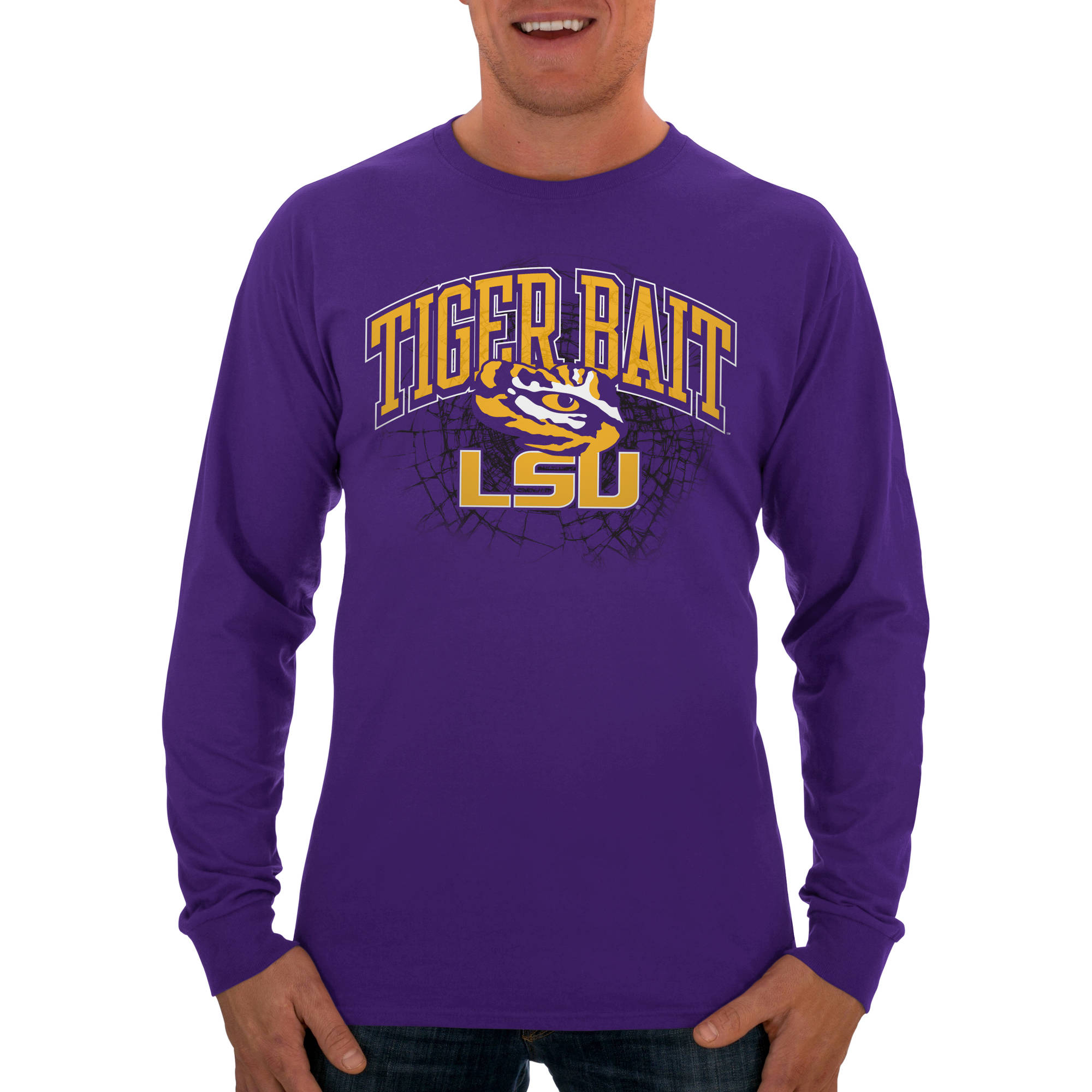 Russell NCAA LSU Tigers Big Men's Long  T-Shirt