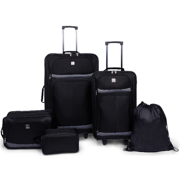 Protege 5 Piece 2-Wheel Luggage Value Set, Includes Check and Carry On Size