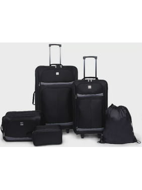Protege 5 Piece 2-Wheel Luggage Value Set, Includes Checked and Carry On Luggage