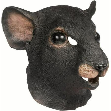 Star Power Realistic Rat Full Head Animal Mask, Black, One Size (Realistic Animal Masks)
