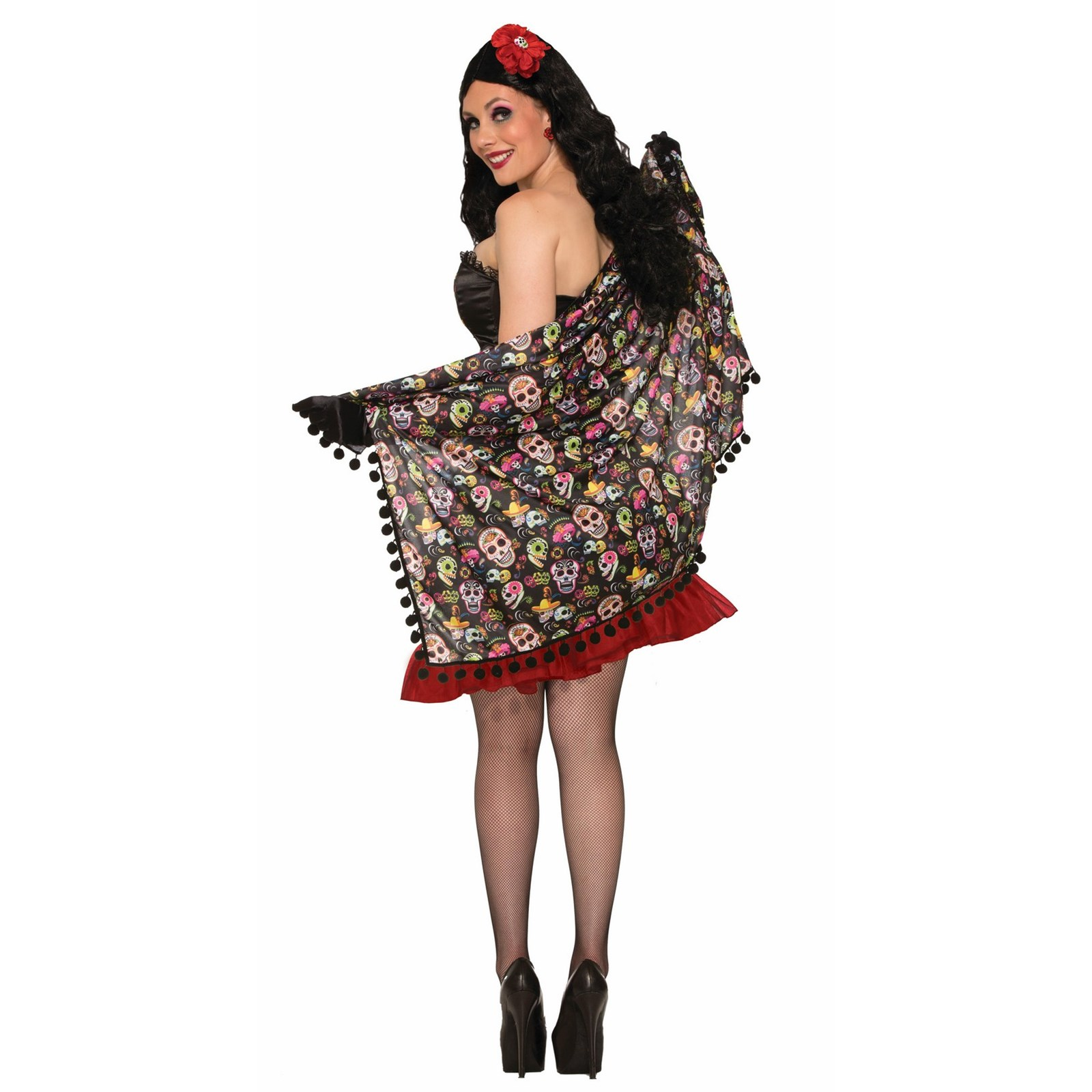 Halloween Day Of The Dead Shawl