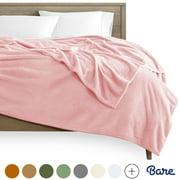 Bare Home Ultra Soft Microplush Blanket - Luxurious Fuzzy Fleece - All Season Bed Blanket (Twin/Twin XL, Light Pink)