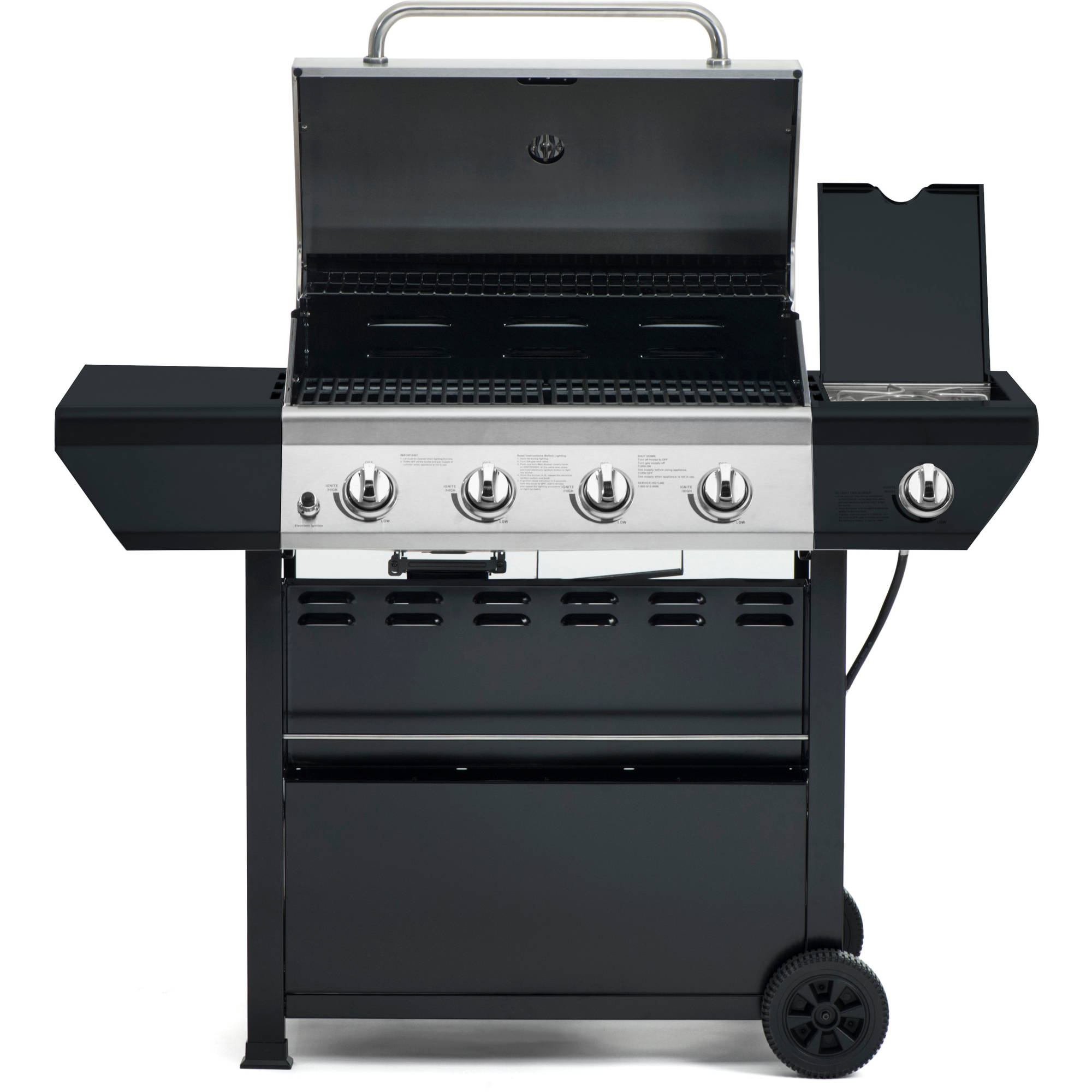 Flame Master Bbq.Grillmaster 4 Burner Propane Gas Grill With Side Burner Walmart Com