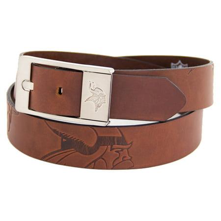 Minnesota Vikings Brandish Leather Belt - Brown