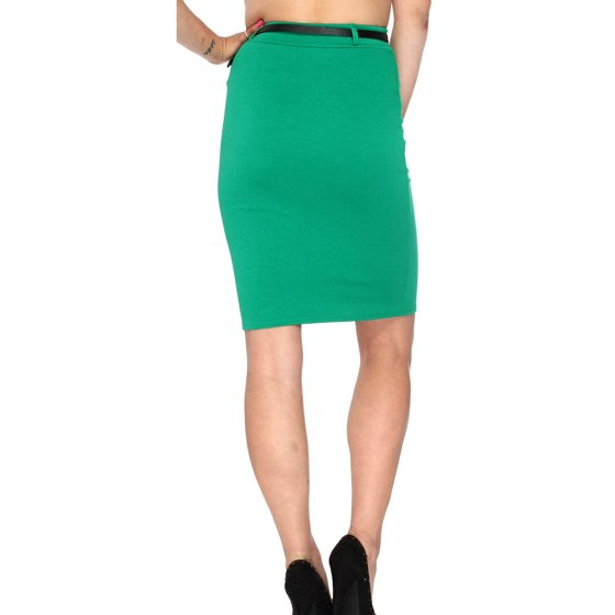 ad40ebdbde Simplicity - Womens Fitted Business Office Dress Slimming High Waist Pencil  Skirt Candy Color - Walmart.com