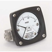 MIDWEST INSTRUMENT 120-SA-00-OO-15P Pressure Gauge,0 to 15 psi