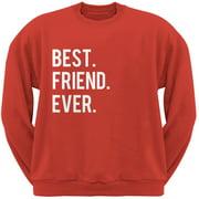 Valentine's Day Best Friend Ever Red Adult Crew Neck Sweatshirt - Large