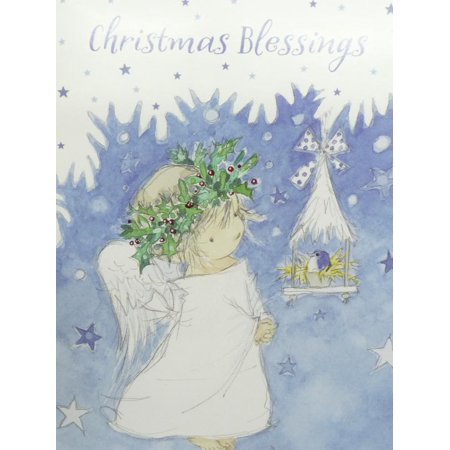 trimmerry christmas blessings christian christmas cards with child angel - Christian Christmas Cards