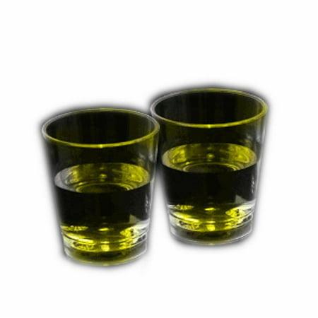 Blinkee LULAASG-YL Light Up Liquid Activated Acrylic Shot Glass, Yellow](Yellow Shots)