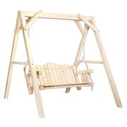 Montana Woodworks MWHCLSSL Homestead Collection Lawn Swing with A Frame Exterior Stain