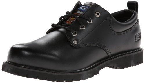 Skechers for Work Men's Cottonwood Fribble Slip Resistant Work Shoe,Black,7 M by Skechers