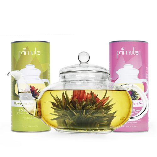 Primula Daisy 1.25-qt. Glass Teapot Set with Infuser, Lid...