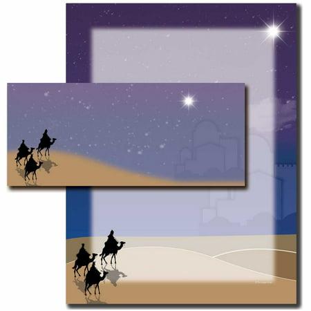 Three Kings Three Wisemen - Three Wisemen Christmas Letterhead With Matching Envelopes