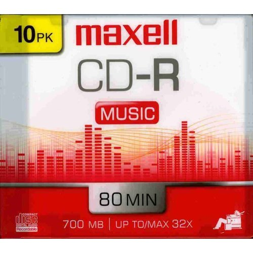 Maxell 625133 Music CD-Rs, 10pk