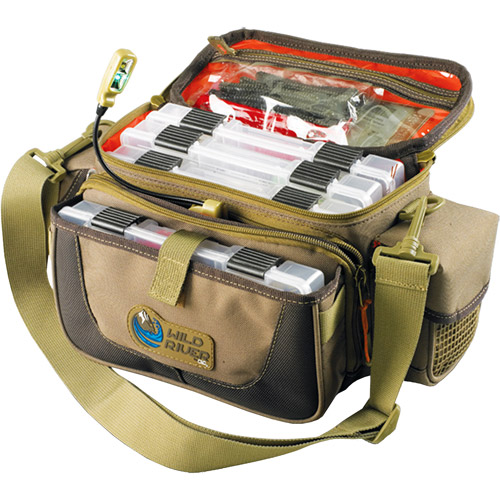 Wild River Tackle Tek Mission Lighted LED Small Convertible Tackle Bag with 4 Trays