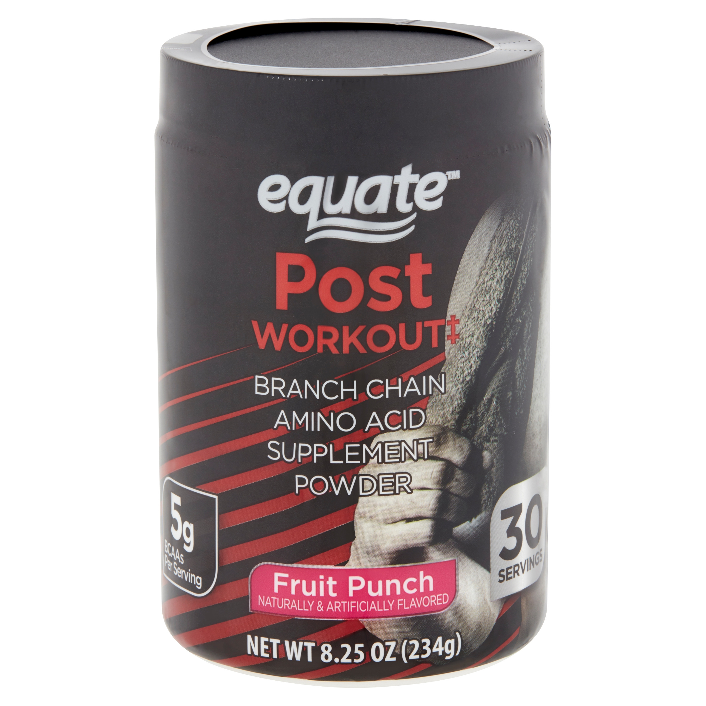 Equate Post Workout Fruit Punch Branch Chain Amino Acid Supplement Powder, 8.25 oz