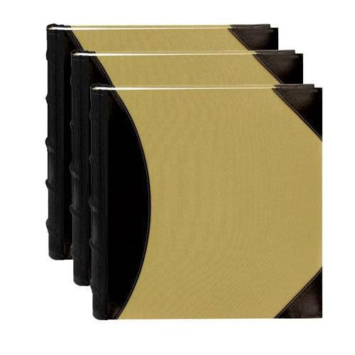 """Sewn BookBound Photo Album, Fabric Leatherette Cover, Holds 500 4x6"""" Photos, 5 Per Page, Color: Black... by"""