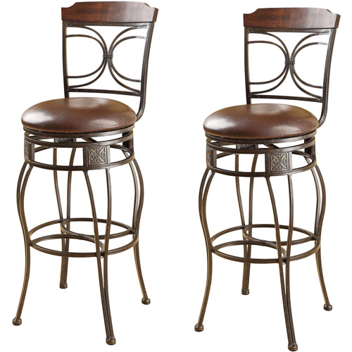 Acme Turkey Swivel Bar Chair, Set of 2, Espresso