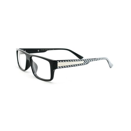 1d396a052a Newbee Fashion - Casual Simple Squared Durable Frames Temple Design Clear  Eye Glasses Geek Nerd Cosplay - Walmart.com
