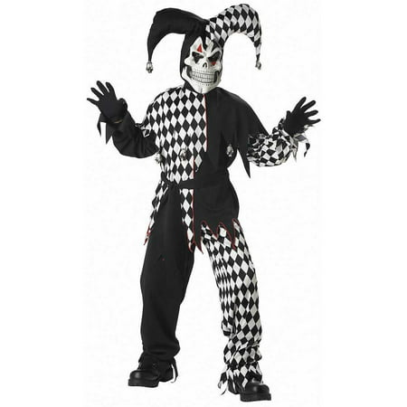 Evil Jester Boys' Child Halloween Costume - Evil Bride Halloween Costume
