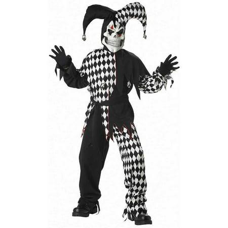Evil Jester Boys' Child Halloween - Boys Jester Halloween Makeup