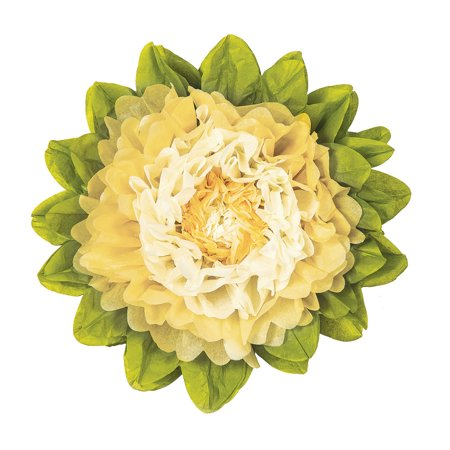Extra Large Tissue Paper Flower (20-Inch, Ivory & (Ivory Creme)