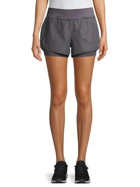 Layer 8 Women's Embossed Stretch Running Shorts