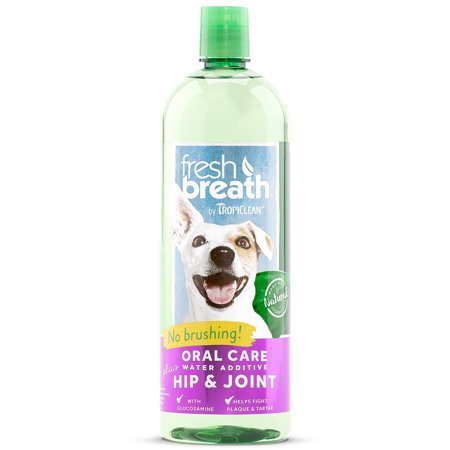 Fresh Breath by TropiClean Oral Care Water Additive Plus Hip & Joint, 33.8 Oz