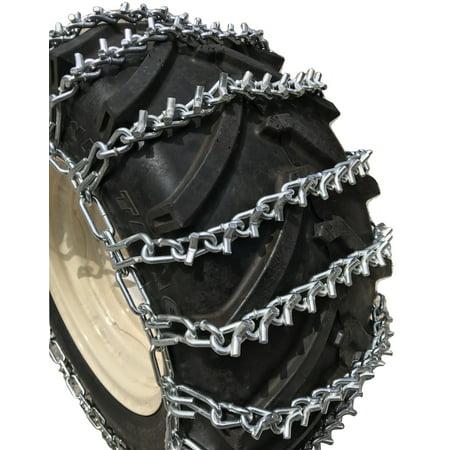Snow Chains 10 X 3.50, 10  3.50 Heavy Duty V-BAR Tire Chains Set of
