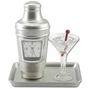 Ruda Overseas 085 3-1/2'' x 3'' Cocktail Clock Gifts