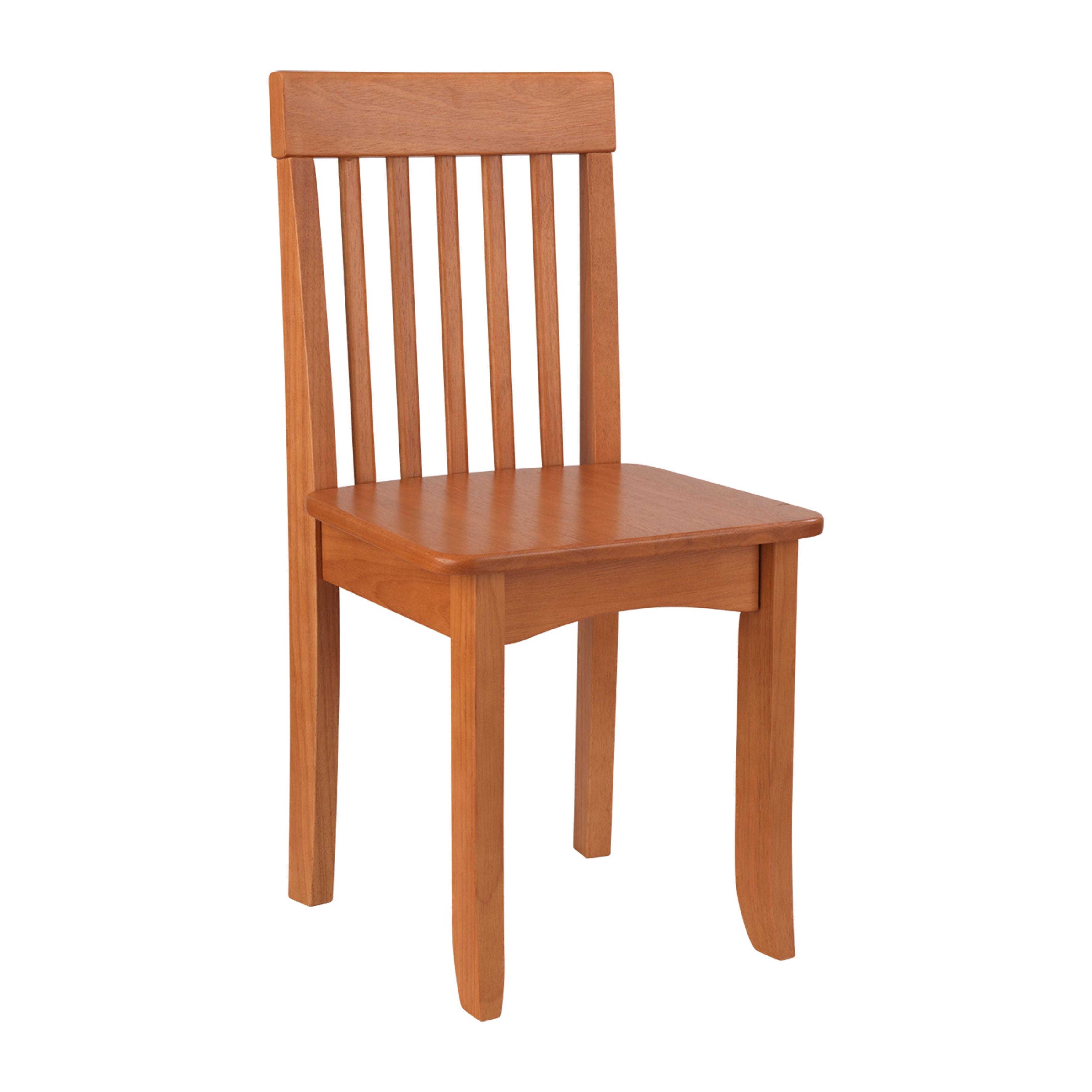 KidKraft Avalon Wooden Single Classic Back Desk Chair for Children - Honey