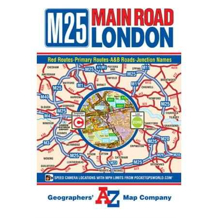 M25 Main Road Map of London (A-Z Road Map) (Map) - Walmart.com