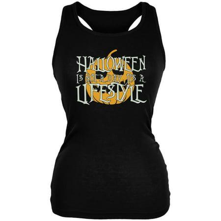Halloween Lifestyle Black Juniors Soft Tank Top - Obama Style Halloween