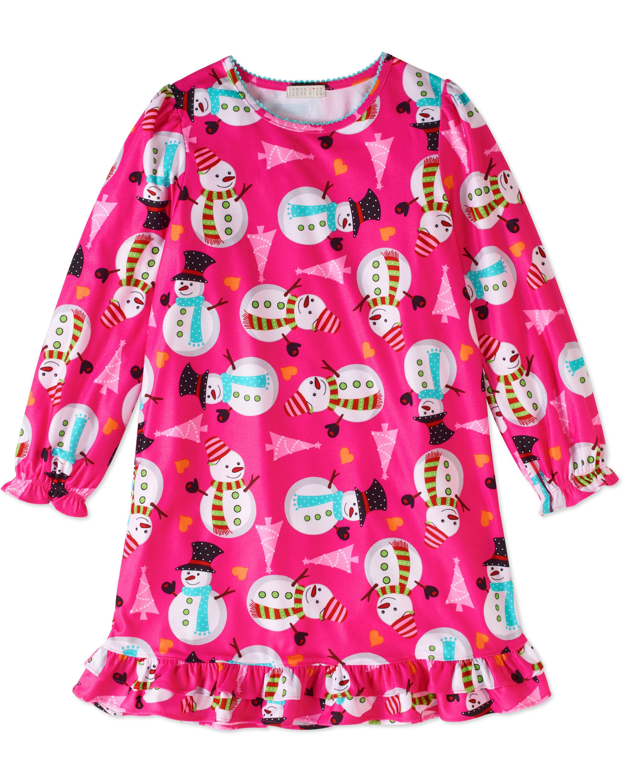 Komar Kids Big Girls' Dear Santa Nightgown, Red, Pink, Size: 7/8