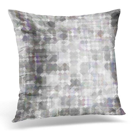 ECCOT Colorful Digital Bright Abstract Mosaic Grey Pattern with Gloss Silver Artistic Pillowcase Pillow Cover Cushion Case 16x16 inch (Gray Silver Pattern)