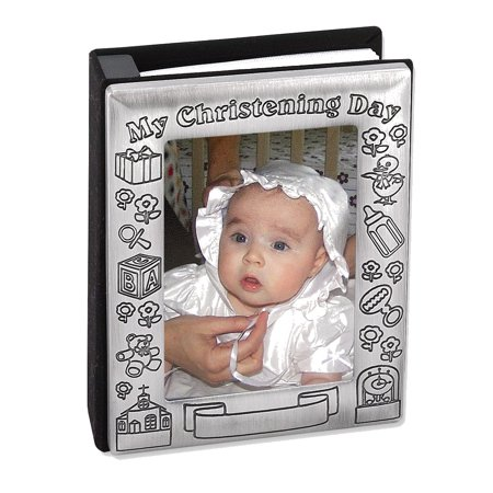 My Christening Day 3x5 Photo Album Holds 72 Photos - Engravable Christening Gift